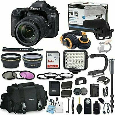 Canon EOS 80D DSLR Camera Bundle with Canon EF-S 18-135mm f/3.5-5.6 IS USM Lens