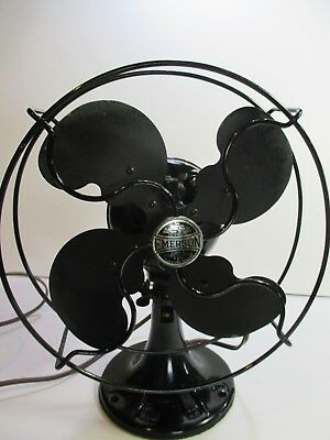 Emerson Black Vintage Mid-Century Electric 2 Speed Table Fan GUC #N1
