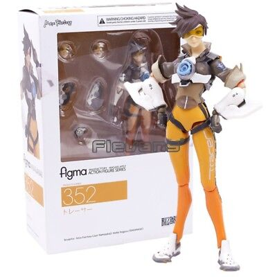 """Overwatch Tracer Figma 352 Figure PVC Action Figure 14cm 5,5"""" in box"""