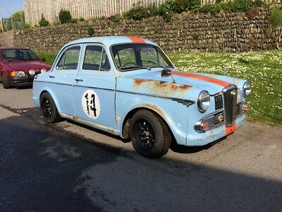 Wolseley 1500 goodwood Classic historic race car gulf racing Retro Rare mot