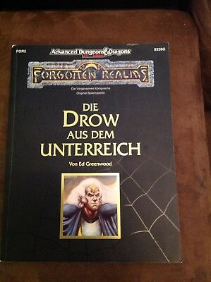 FR Advanced Dungeons & Dragons 2nd Edition - Die Drow aus dem Unterreich 9326G
