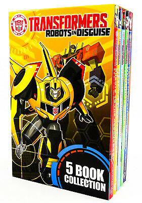 Transformers Robots In Disguise: 5 Book Collection (Paperback, 2018) [NEW]