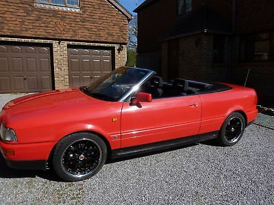 Red Audi Cabriolet, 1993 - Immaculate Condition, 54,000 Miles, 12 months MOT