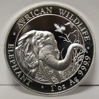 Somalia 2018 Elephant 9999 Silver Coin 1 oz 100 Shillings African Wildlife JY502
