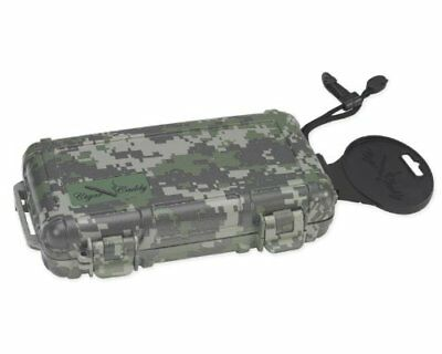Quality Importers Cigar Caddy 3400 Camo 5 Cigar Waterproof Travel Humidor Digit