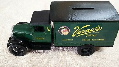 Pre-owned Vernor's Ginger Ale, Ertl 1931 Hawkeye delivery truck  die cast bank.