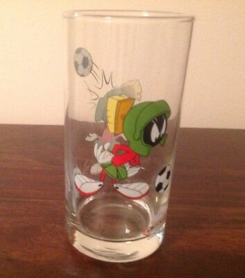 Vintage 1998 Looney Tunes Marvin the Martian Smucker's glass
