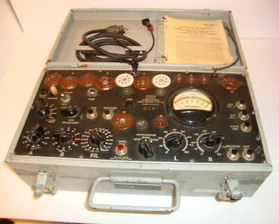 Supreme 1-177B Mutual Conductance Military Tube Tester US Signal Corps SN2940