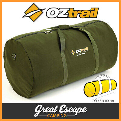 Oztrail Canvas Swag Bag Single. Tough 14 oz canvas. Durable #12 zips