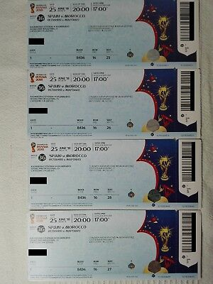 FIFA Worldcup 2018, 1- 4 Tickets Match 36 Spain - Marocco, Kat. 3 in Kaliningrad