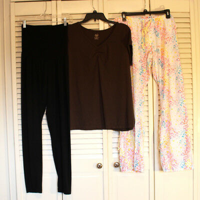 Lot of 3 Maternity Clothes Size XL Leggings, Top and Lounge Pants