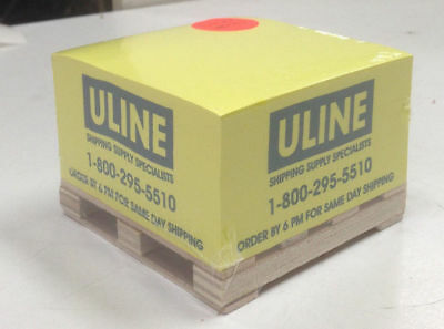 ULINE Pallet Yellow 500 Sheet Sticky Notes Paper Pad