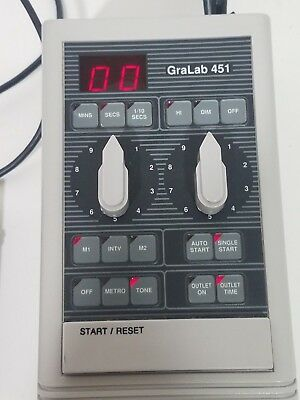GraLab Model 451 Digital ElectronicDarkroom Timer  with foot pedal switch