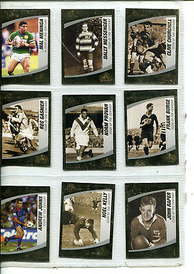 Nrl 2008 Trading Cards - Team Of The Century - Centenary Of Rugby League