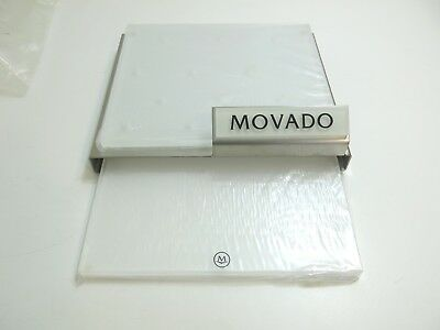 New Movado Watch One Foot In Counter Dealer Store Display ~ Stainless Steel And