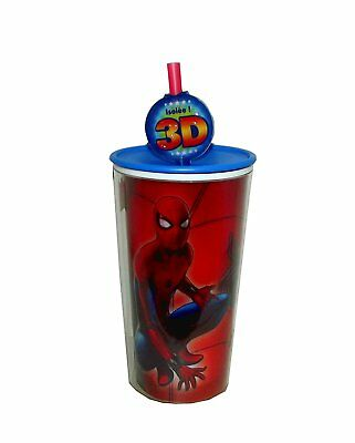 Zak Designs Insulated Tumbler Spiderman Screw-on Lid with Straw 10 oz Cup