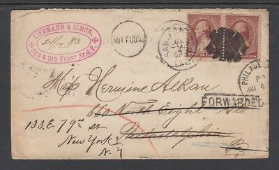 #210 - 1883 MISSING FORWARDED COVER, SFO Cancel cover - Great clean markings