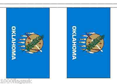 United States of America USA Oklahoma Flag Bunting 3m long with 10 Flags
