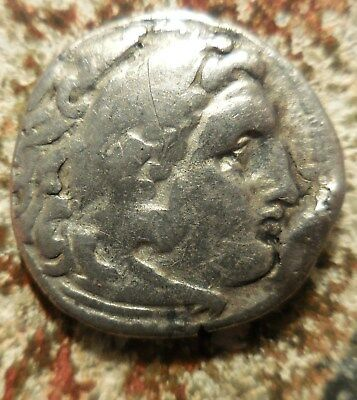 """Relisted: Alexander III """"the Great"""" 336-323 BC Silver Drachm Herakles / Zeus."""
