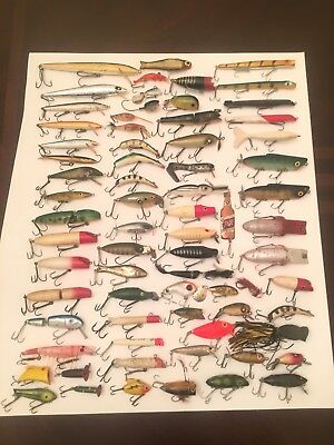 Large Lot Of 72 Old Vintage Fishing Lures