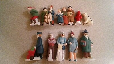 Lot of 10 Vintage Figurines Christmas Porcelain mixed kinds Memories Collection