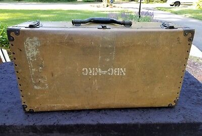 Vintage FIBERBILT Portfolio Shipping Suit Case- Steampunk Display NBC WRC Radio