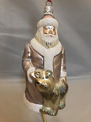 Vintage Patricia Breen Santa And His Dog Christmas Ornament
