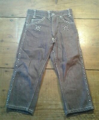 Vintage Billy The Kid Jeans By Panchito 20 Waist-14 1/2 Inseam No Holes Good