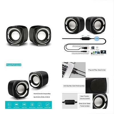 Small Computer Speakers, USB 2.0 Wired Laptop For Desktop PC, Multimedia Home,