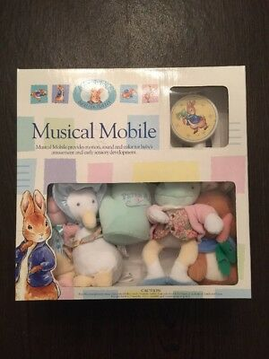 Beatrix Potter Peter Rabbit Plush Musical Mobile Baby Complete New In Box 2000