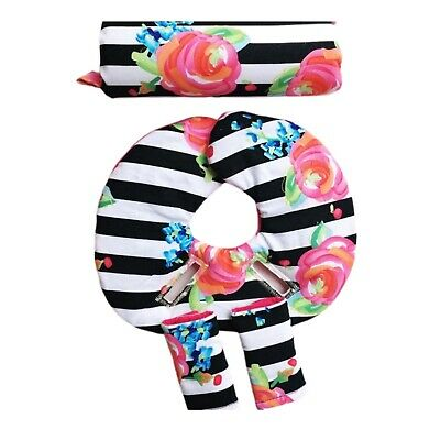Infant Car Seat Head SupportCar Strap CoversCar InsertFloral