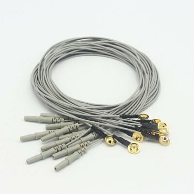 20pcs 1m Gold Plated Copper Electrode EEG Cable with DIN 1.5 Socket