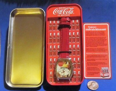 Coca-Cola Collectible Watch in Vending Machine Tin