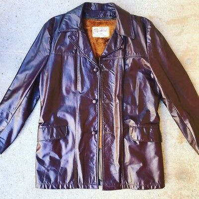 Vtg Excelled Genuine Leather Jacket 44L Made In USA