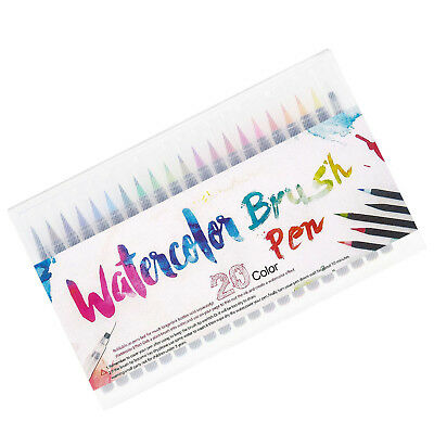 20 Color Pens Set Art Paint Oil Watercolor Drawing Painting Brush Artist Marker