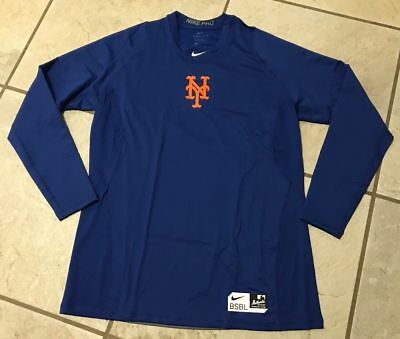 Nike Mens Dri Fit Pro New York Mets Fitted Pullover Shirt 2XL XXL Save 50%