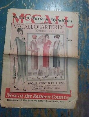 McCALL QUARTERLY SUMMER 1925 WOMENS FASHIONS