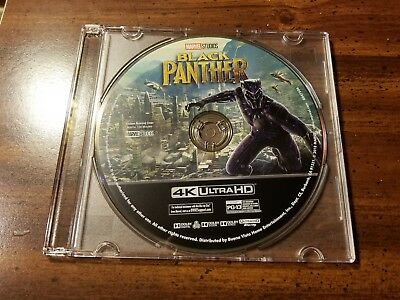 New 2018 Walt Disney Marvel Comics Black Panther Movie 4K UHD Blu Ray Disc Only