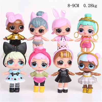 8 LOL Surprise Action Figure Hair Doll Collectors Kids Playset Cake Topper Decor