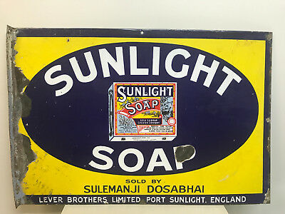 Vintage Sunlight Soap Enamel Sign