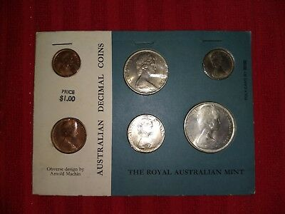 Australian Coins 1966 Mint Decimal Currency First Issue Set 6 UNC All original