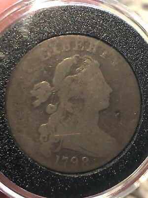 1798 Large Cent Draped Bust penny US Mint 1 Style 2 Hair