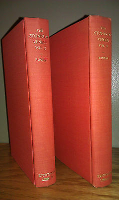 Lot of 2 Vintage 1927, 1935 Editions: Stones of Venice by Ruskin - Architecture