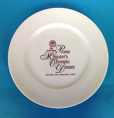 "2000 ""Prime Minister's Olympic Dinner"" Plate - NEW Condition"