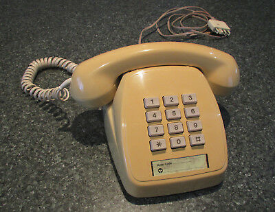 Retro 1980's collectable Telephone Telecom model 807 old press-button phone 1986