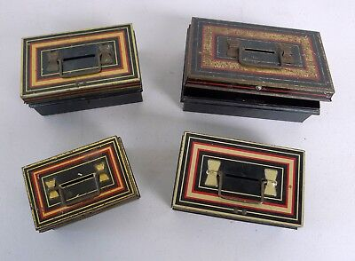 4 Tin Money Boxes; 2 Chad Valley 10015, M.205: 2 Burnett's Limited Money Boxes.