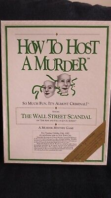How To Host A Murder The Wall Street Scandal Vintage Board Game