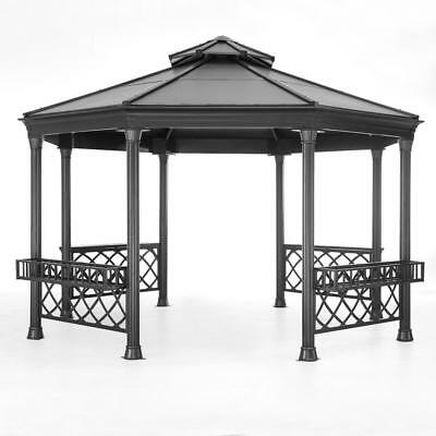 Sunjoy 13 ft Heavy Duty Octagon Hardtop Outdoor Gazebo    ---3