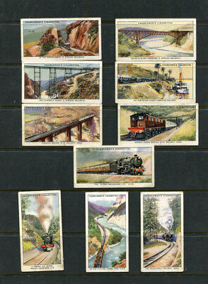 Cigarette Cards Churchman 1931 ' Empire Railways X 10 Cards Lot 123