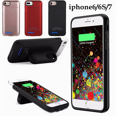 For iPhone 6/6S/7 Portable External Power Bank Battery Charger Charging Case